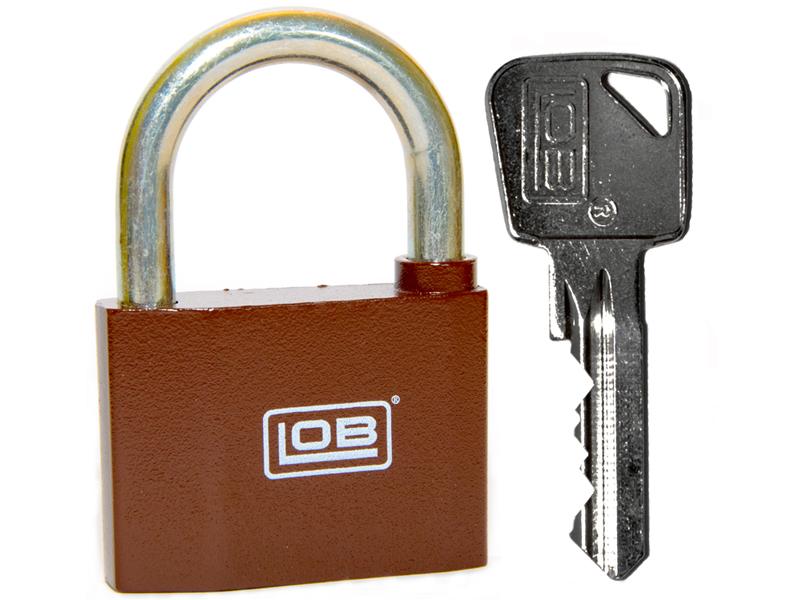 LOB Kłódka KZ60 system na jeden klucz+3 kl. POLSKA