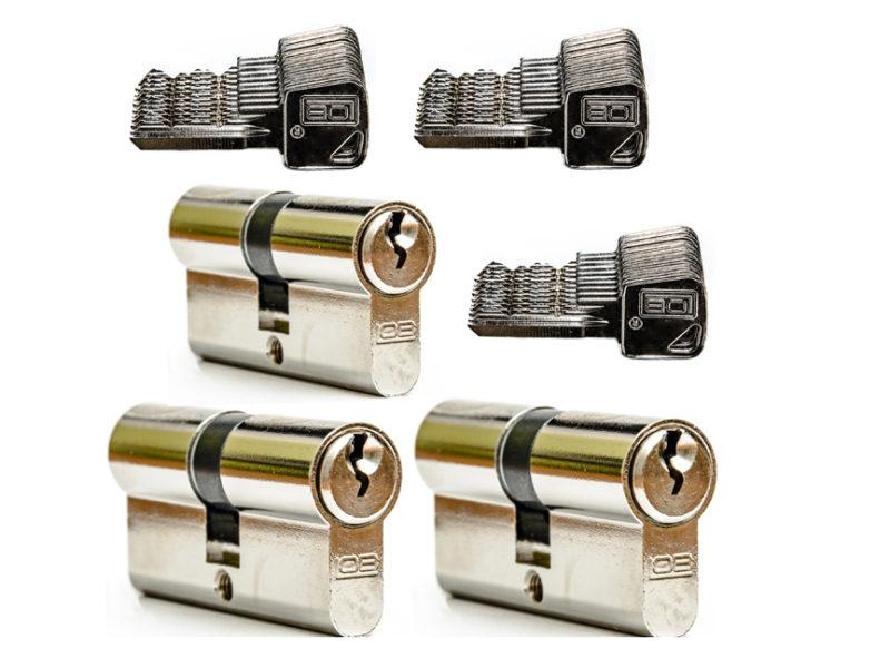 system jednego klucza LOB ARES 3 x 30/30 + 30 kluczy